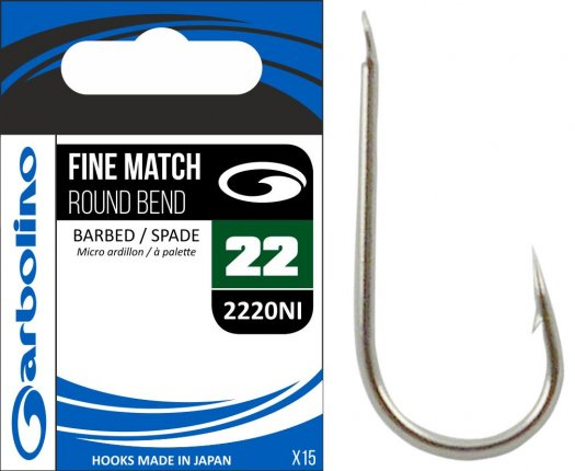 Garbolino Competition Fine Match Round Bend Hooks Match Pole Coarse Fishing